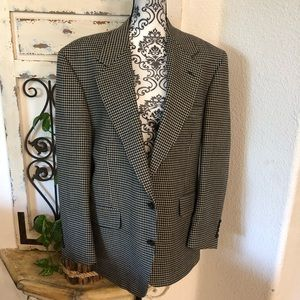 Nordstrom Black and Tan houndstooth blazer